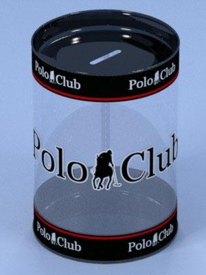 Embalagem cilíndrica de plástico